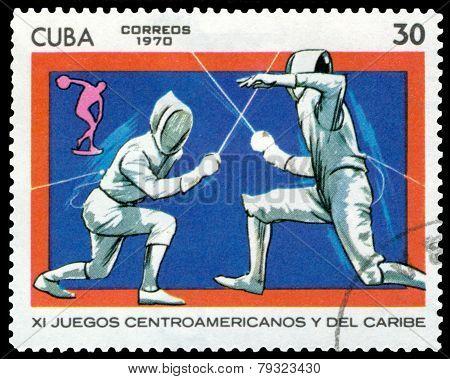 Vintage  Postage Stamp. Sports