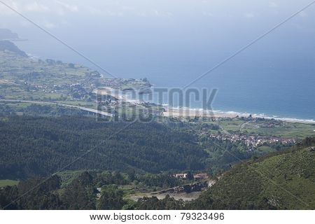 Beaches In Asturias From Top