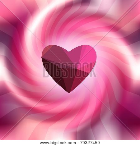 Pink background with spiral