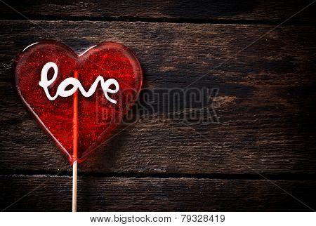 Heart Shape Lolly Pop