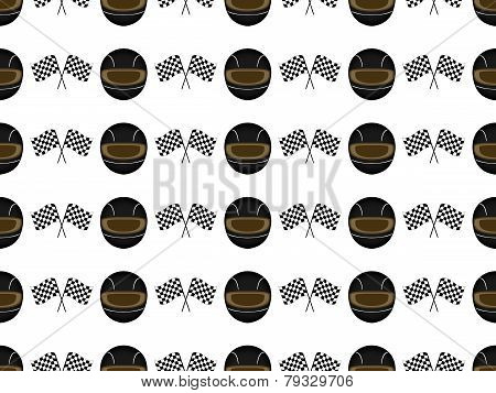Racing Background Seamless Pattern 2 Black
