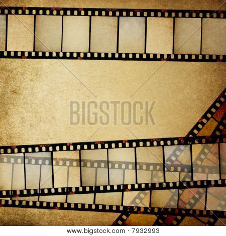 Vintage Empy Positive Films Background With Space For Text.