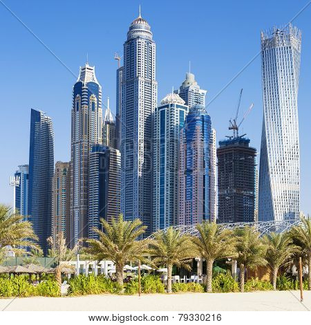 View Of Skyscrapers And Jumeirah Beach