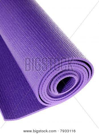 Yoga Mat On White