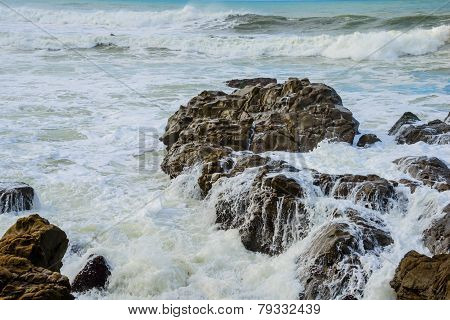Rocky Coast Ocean Surf Waves