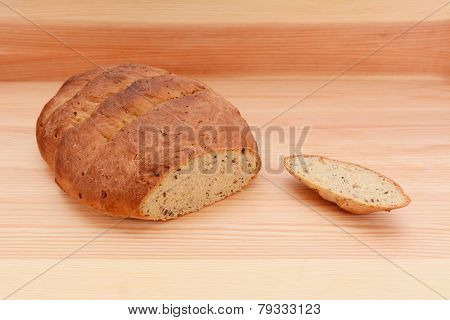 Fresh Malted Bread Loaf With The Crust Cut Off