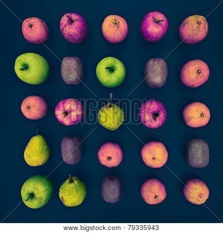 Unreal Fruit Set. Bright Design Photo