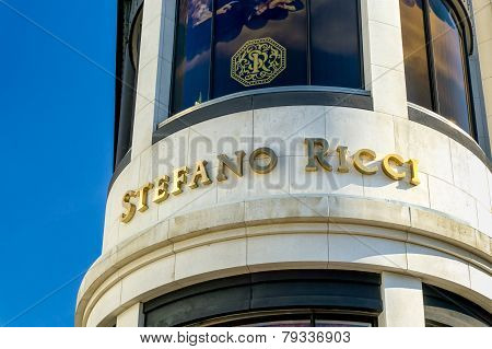 Stefano Ricci Retail Store Exterior