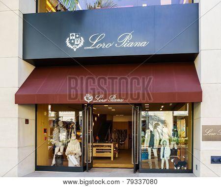 Loro Piana Retail Store Exterior
