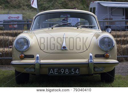 Vintage porsche car.
