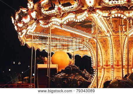 Beautiful Carousel At Night