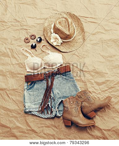 Womens Western Beach Themed Clothing From Above