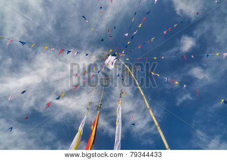 Buddhist Prayer Flags In Nepal