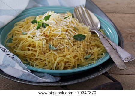 Spaghetti squash with herbs and parmesan