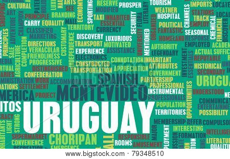 Uruguay as a Country Abstract Art Concept