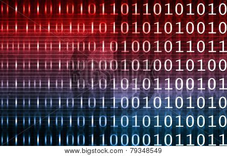 Digital Data on a Abstract Technology Background