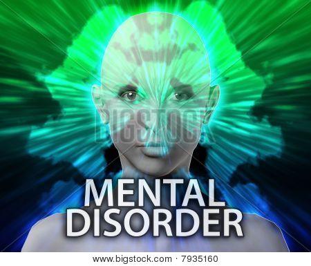 Female Mental Disorder Inkblot