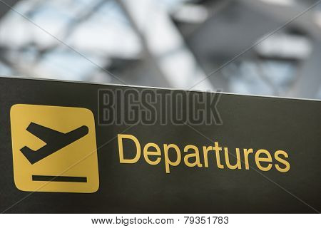 Airport Departure & Arrival Information Sign