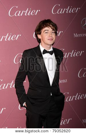 LOS ANGELES - JAN 3:  Alex Lawther at the Palm Springs Film Festival Gala at a Convention Center on January 3, 2014 in Palm Springs, CA