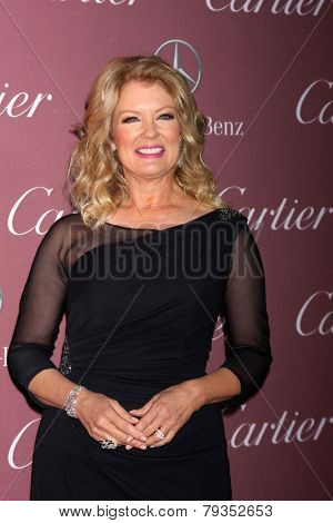 LOS ANGELES - JAN 3:  Mary Hart at the Palm Springs Film Festival Gala at a Convention Center on January 3, 2014 in Palm Springs, CA