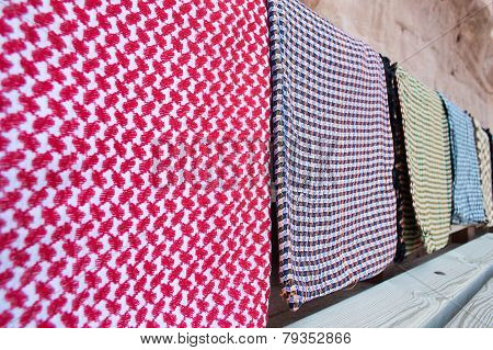 Group Of  Traditional Jordanian Headkerchief