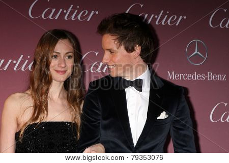 LOS ANGELES - JAN 3:  Hannah Bagshawe, Eddie Redmayne at the Palm Springs Film Festival Gala at a Convention Center on January 3, 2014 in Palm Springs, CA