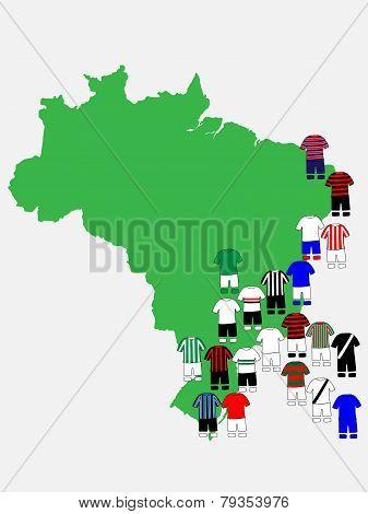 Brazilian League Clubs Map