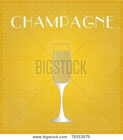 Drinks List Champagne With Golden Background