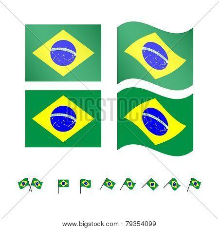 Brazil Flags Eps10