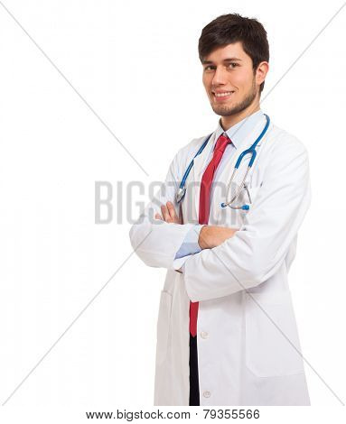 Portrait of a young smiling doctor