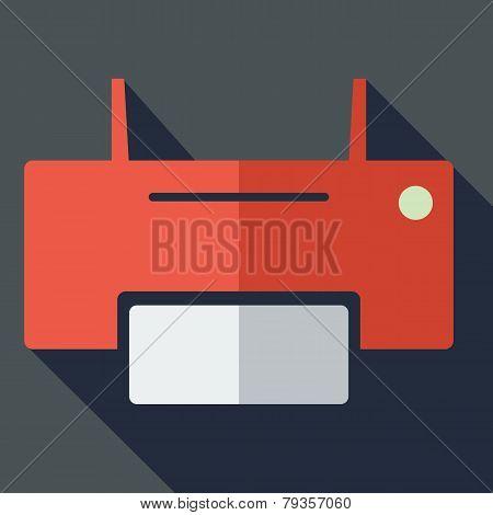 Modern flat design concept icon printer.