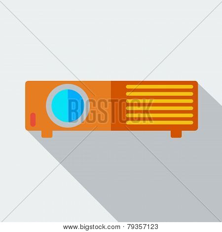 Modern flat design concept icon projector.