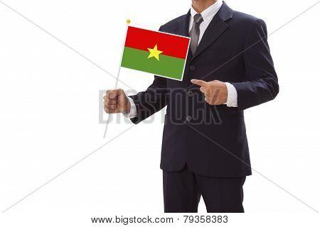 Businessman with Burkina Faso Flag