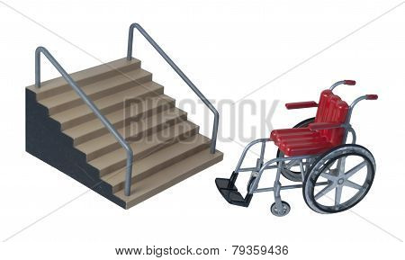 Stairs And Wheelchair