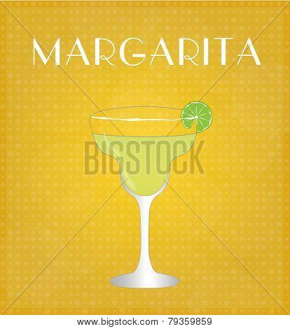 Drinks List Margarita With Golden Background