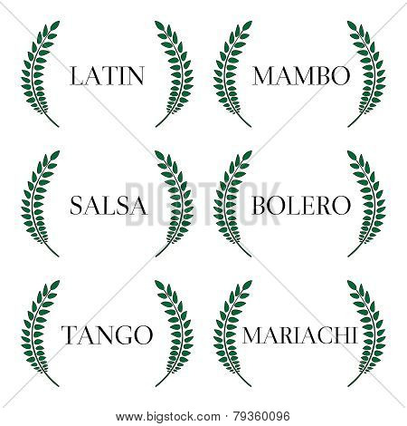 Green Laurels Latin Music Genres: Mambo, Salsa, Bolero, Tango and Mariachi