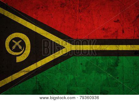 Grunge Vanuatu Flag