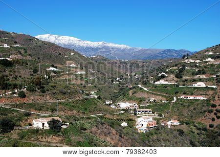 Houses in mountains, Andalusia.