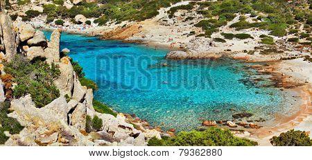 azure sea of Sardegna island , Italy
