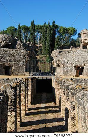 Amphitheatre ruins, Italica.