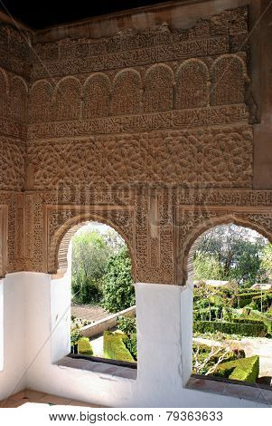 Moorish windows, Granada.