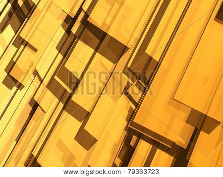 Abstract Yellow Object