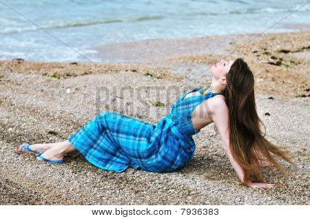 Sensual Girl On The Beach
