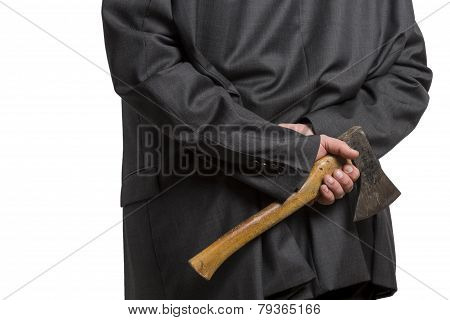 Man In Suit With Axe