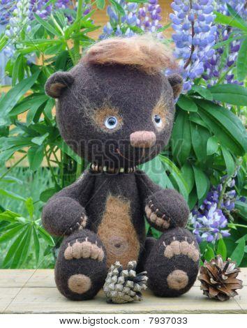 Teddy-bear Mocca On A Little Boa