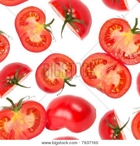 Tomato Slices Seamless Wallpaper