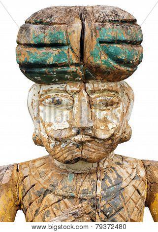 Oriental Soldier Sculpture
