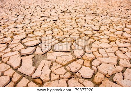 cracked soil during drought