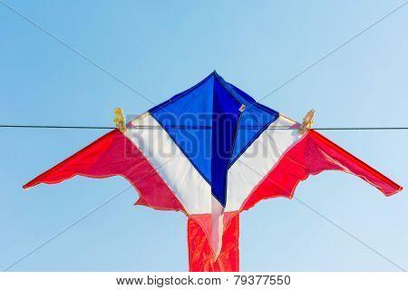 Thailand flag color kite