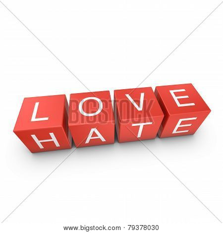 Love And Hate Concept Image